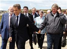 Visite du Président de la République à la Pointe de Dinan à Crozon (Photo F.Destoc-Le Télégramme)