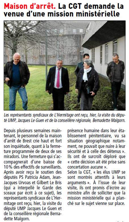 12-03-24 Visite centre penitentiaire Brest-T