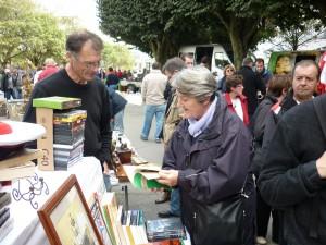 Bernadette Malgorn à la Foire Saint-Michel à Brest