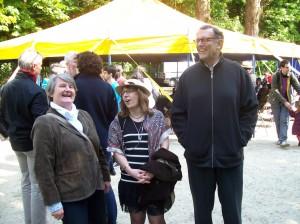 Bernadette MALGORN avec Christine MARGOGNE à la fête de la Brass