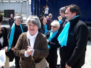 Bernadette MALGORN avec la chorale « Choeurs en cavale »