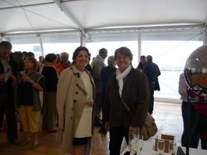 Bernadette MALGORN et Agnès LE BRUN lors de l'inauguration du village de la course