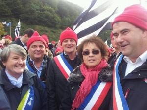 Bernadette MALGORN et les élus de BMO