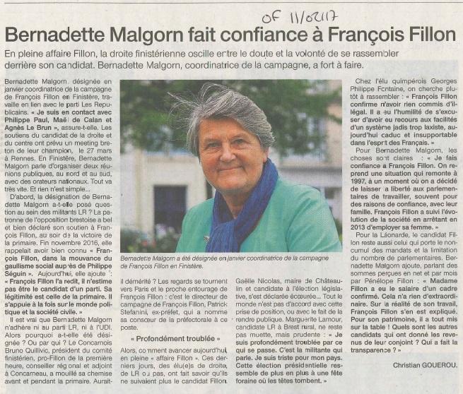 Revue de presse Bernadette malgorn 2017