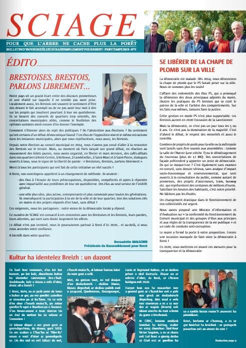 Sciage magazine Rassemblement pour Brest